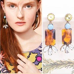 Anthropologie Drop Resin Earrings